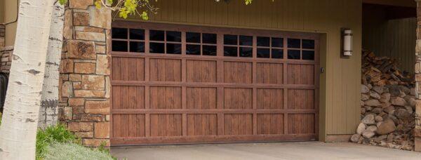 walnut garage doors