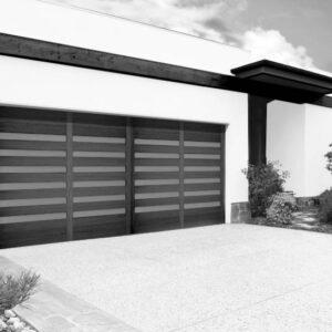 black and white exterior