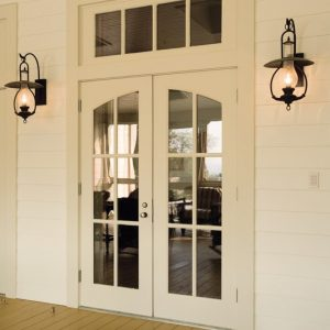 White colored front door