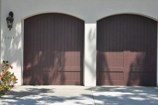 double doored garage