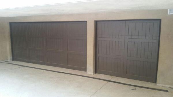 dark wooden garage doors