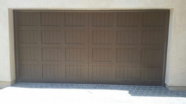 large wooden garage door