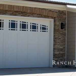 white ranch style doors
