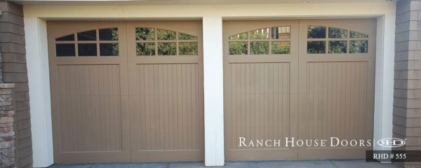 Light beige doors with small glass panels