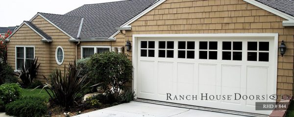 Rach house doors wide residential garage door design