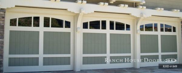 Rach house doors three ranch garage doors design