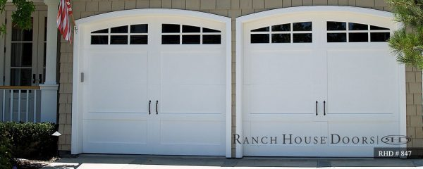 ranch house doors two arched doors design
