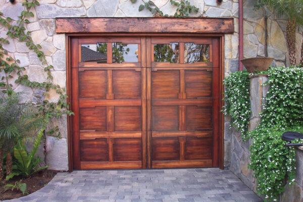 Wood and Glass Entry Door, Carriage House Door
