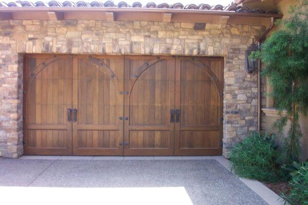 Wood ranch doors, carriage house door