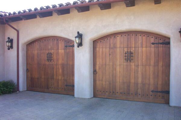 Two wooden doors, carriage house door
