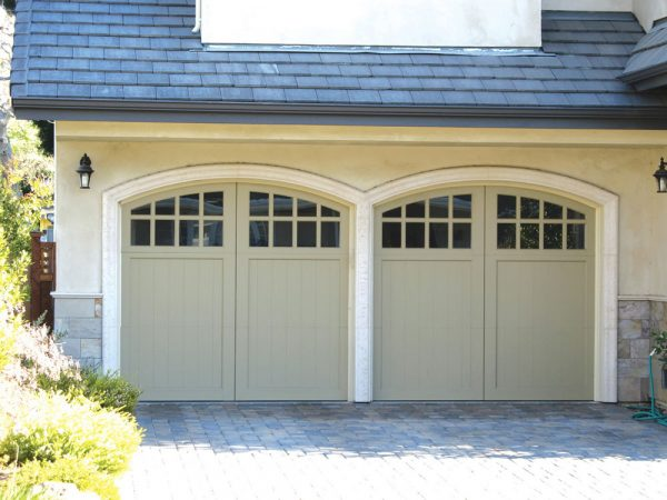 Two Beige Carriage House Doors