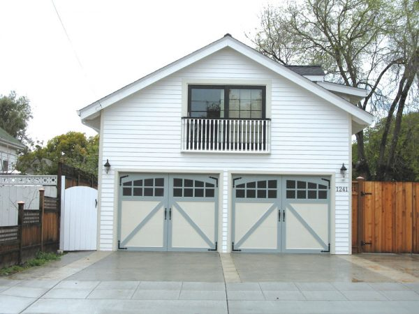 Residential Exterior with carriage house doors