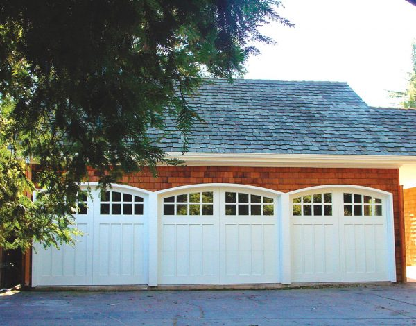 three arched carriage house door design
