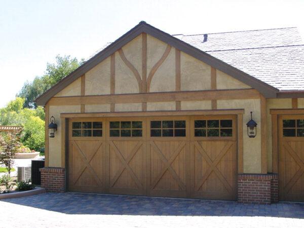 wood carriage house door