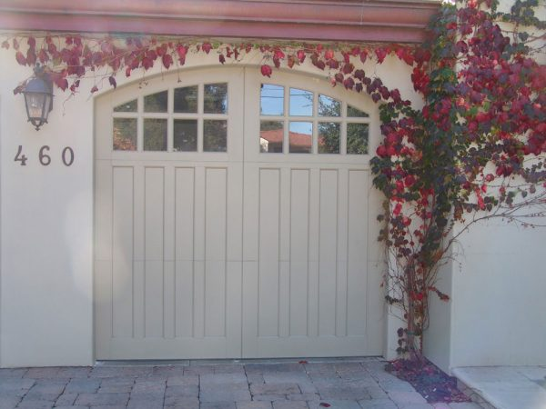 arched carriage house door