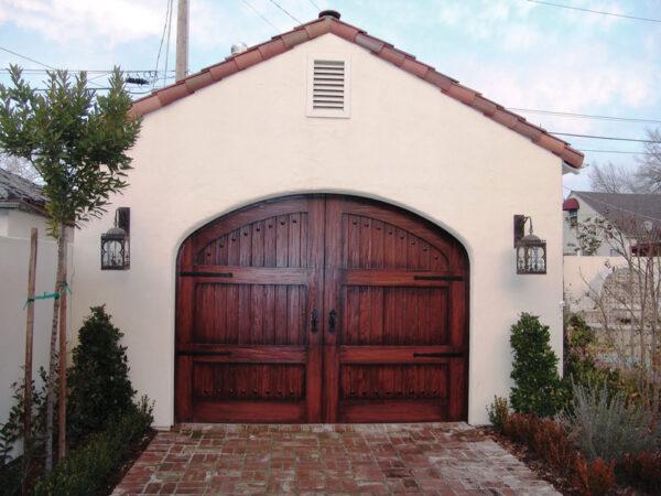 dark wood carriage house door