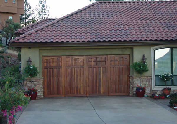carriage house doors on residential structure