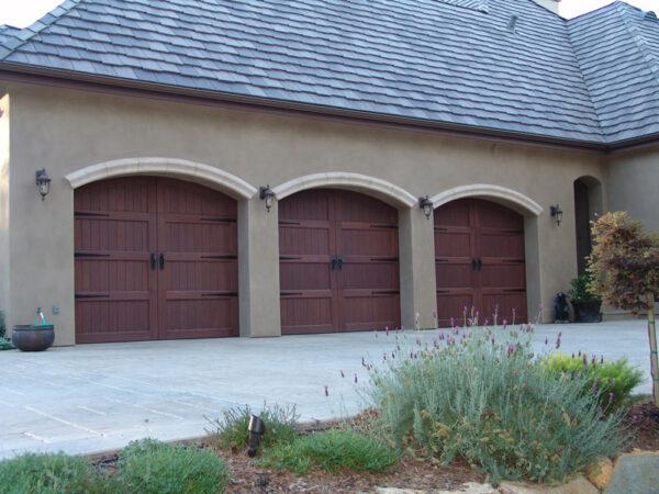 3 arch garage doors home