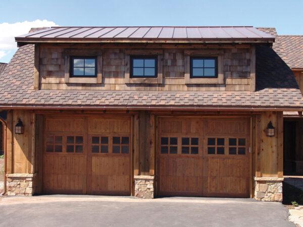 wood carriage house doors