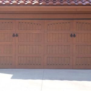 Garage door entrance
