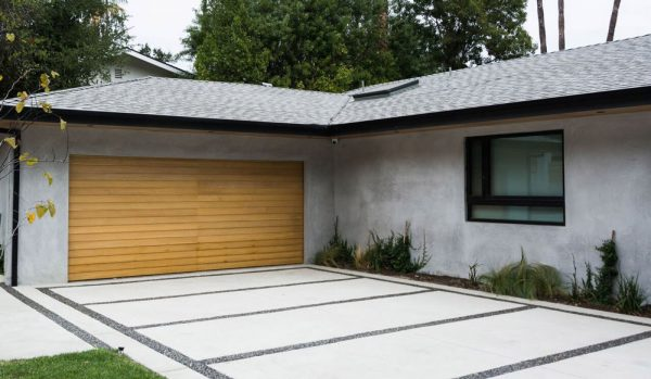 Garage and parking space