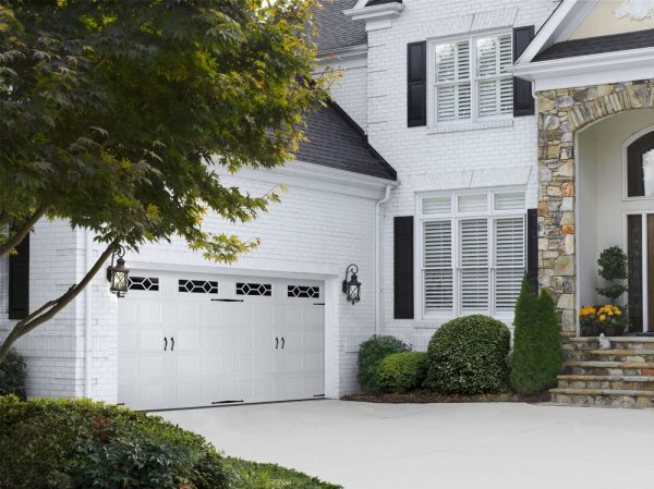 white and black house exterior