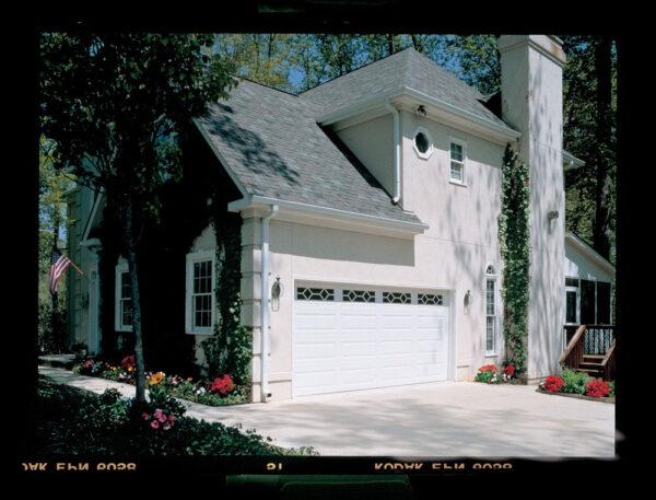 modern white home polariod captured