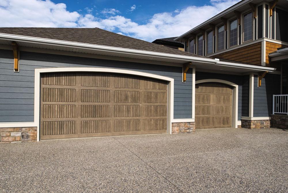 wide clay garage door