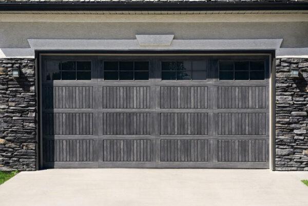 gray 2 car garage door
