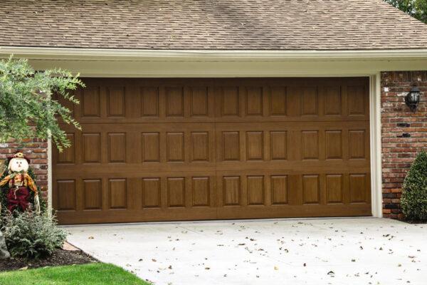 wide 2 car garage door