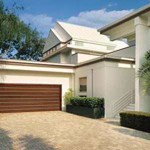 home with large driveway