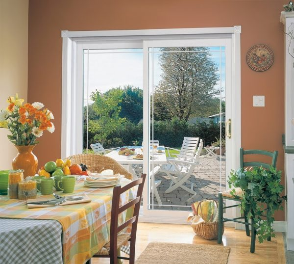 sliding doors by the dining area