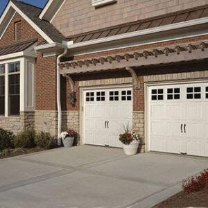Garage doors with handles