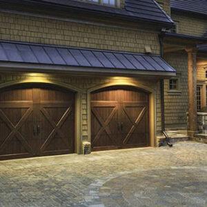 dark wooden barn doors