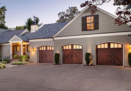 Wooden barn style doors
