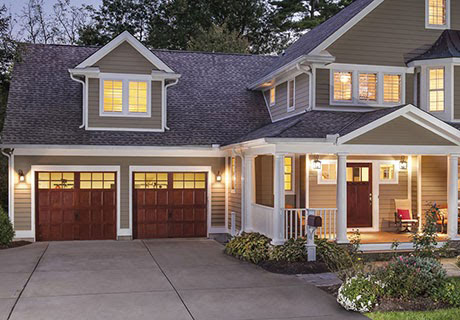 Large house with wooden doors
