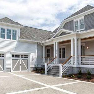 house exterior with garage doors