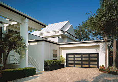 black contemporary modern steel door design