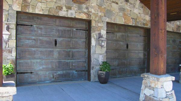 Copper garage doors