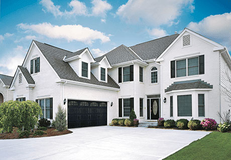 white and gray house