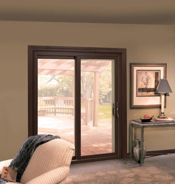 sliding glass door with screen