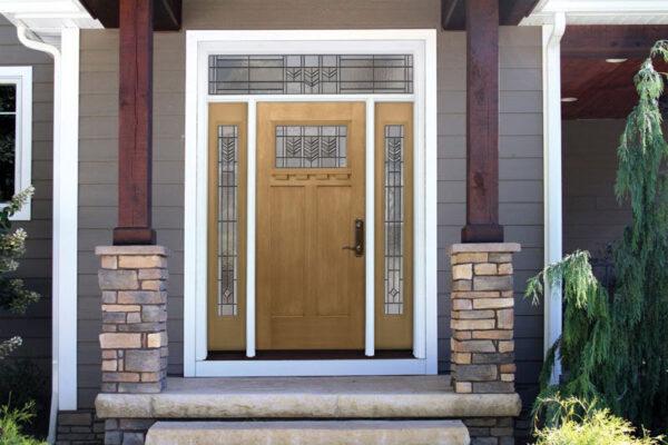 light brown front door
