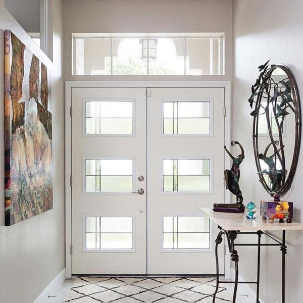 white double doors