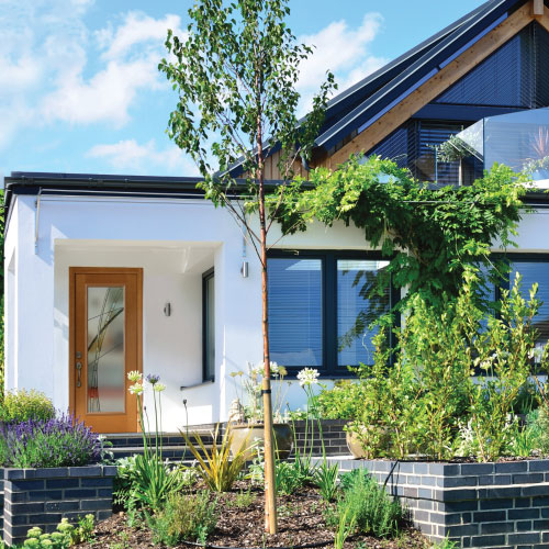 small home with front garden