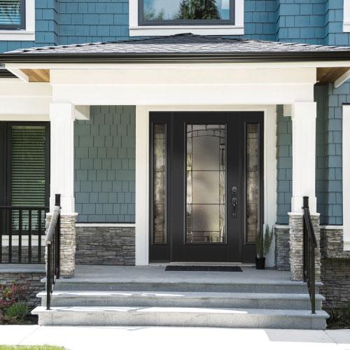 front door to a big home