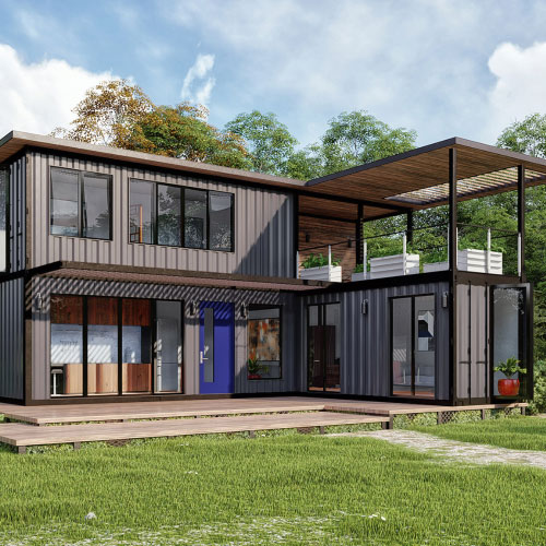 modern gray container homes