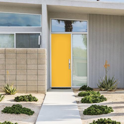 home with yellow door
