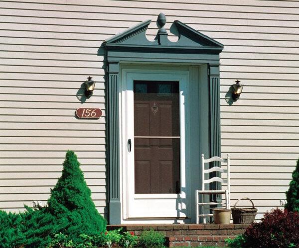 front door of traditional home