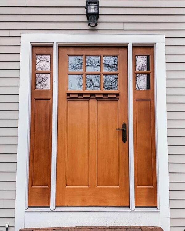 house's wooden front door