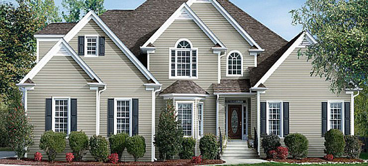 2 story house with beautiful siding
